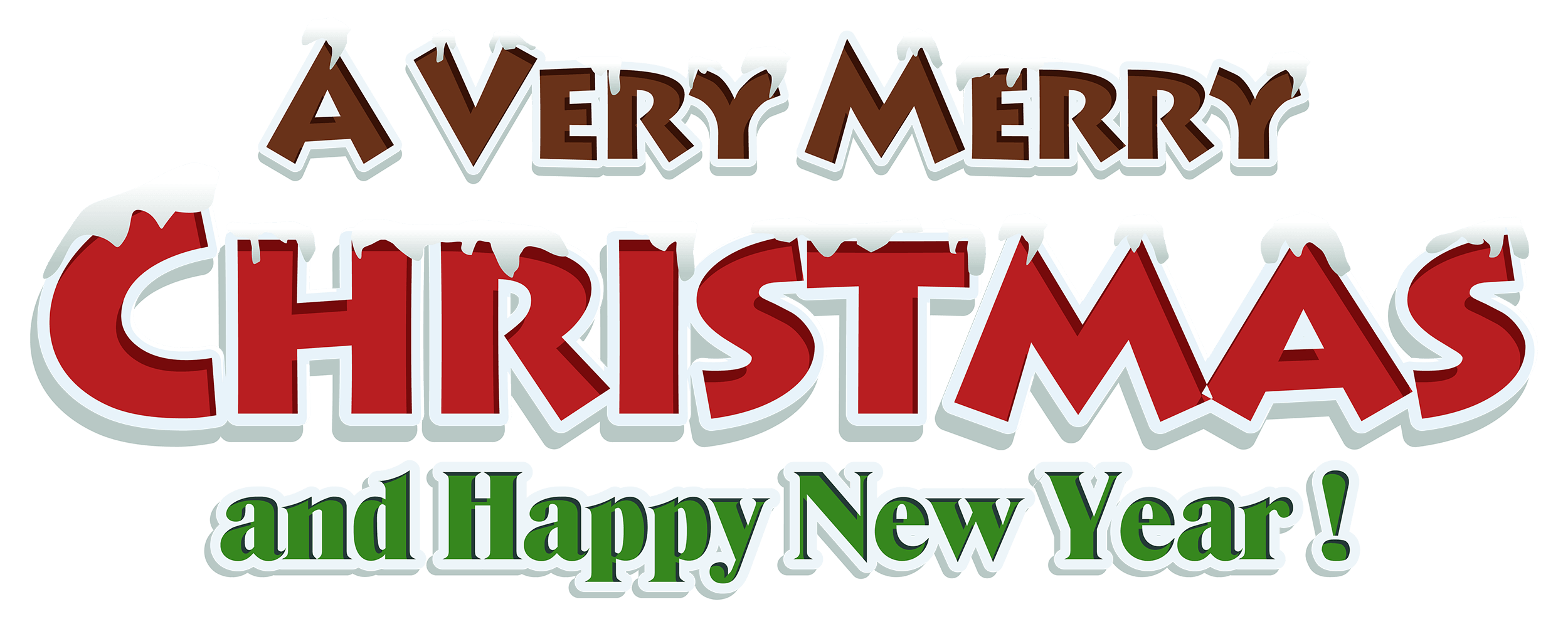 Christmas And Happy New Year Clipart - Merry Christmas ...