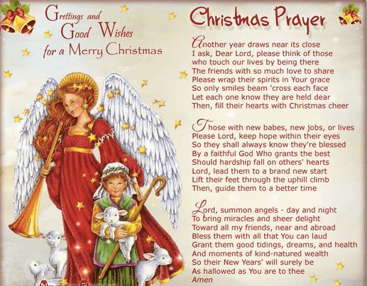 Short Christmas Prayers For Family Kids Christmas Blessing Prayers