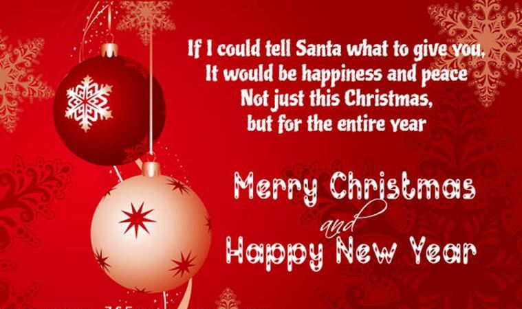 Christmas And Happy New Year Greetings