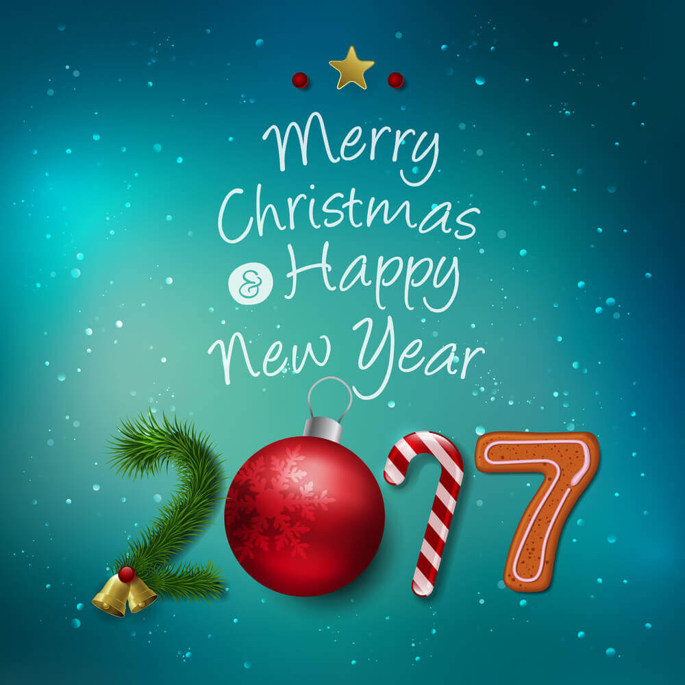 Christmas And New Year Wishes 2017 on Merry Christmas Coloring Pages