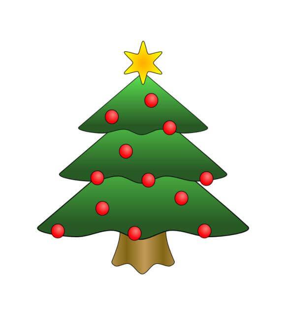 Christmas Tree Cartoon Pics