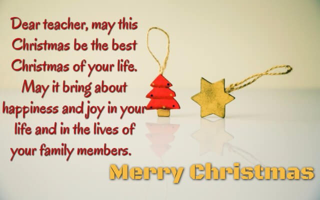Christmas Wishes For Teacher