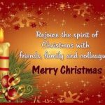 Merry Christmas Greetings, Wishes For Friends & Family