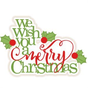 Wish You A Merry Christmas Clipart