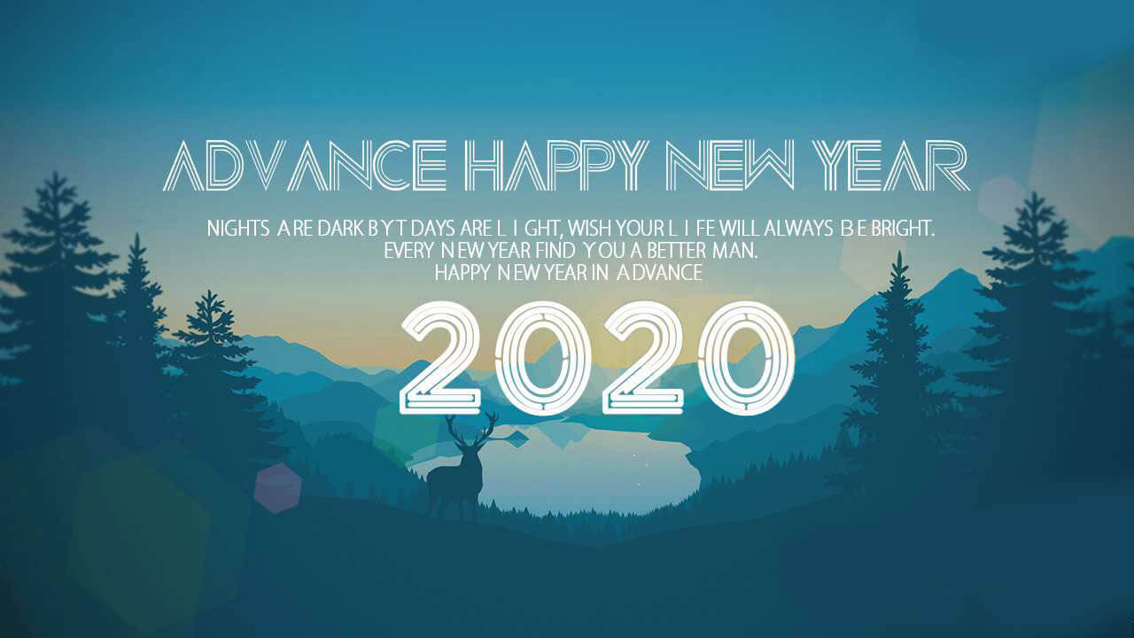 Advance Happy New Year 2020 Wises Images